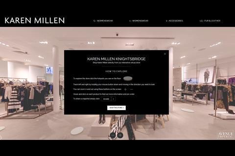 b9b9126898 Premium fashion retailer Karen Millen has launched a virtual version of its  recently opened Knightsbridge flagship